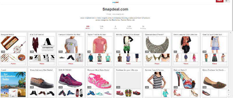 Snapdeal-pinterst