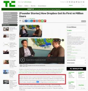 Techcrunch Features Dropbox Explainer Video Success Story