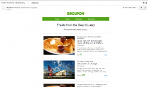 Groupon Promotional Newsletter