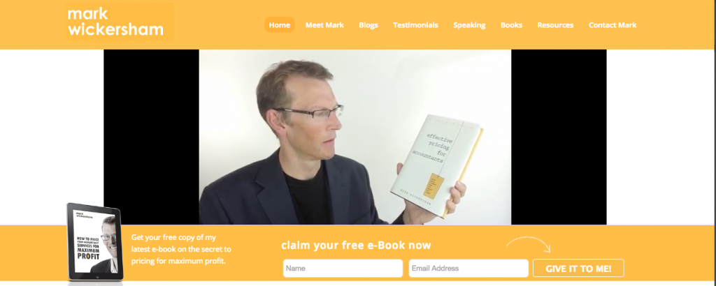 Mark Wickersham homepage video