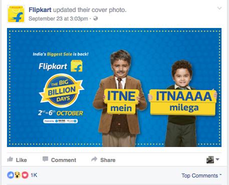 Flipkart big billion day festive marketing