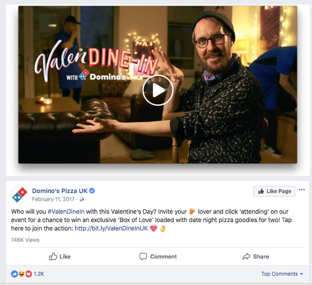 Dominos Valentines Day Marketing Campaign