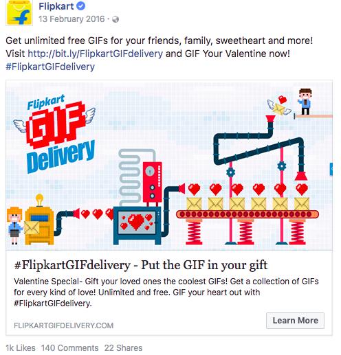 Flipkart GIF Valentines day