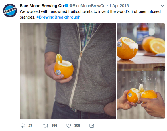 Blue Moon April Fool's Day
