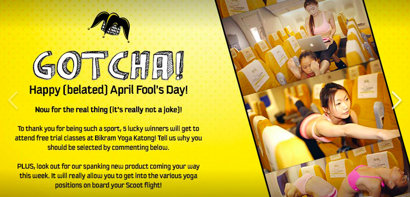 Scoot April Fool's Day