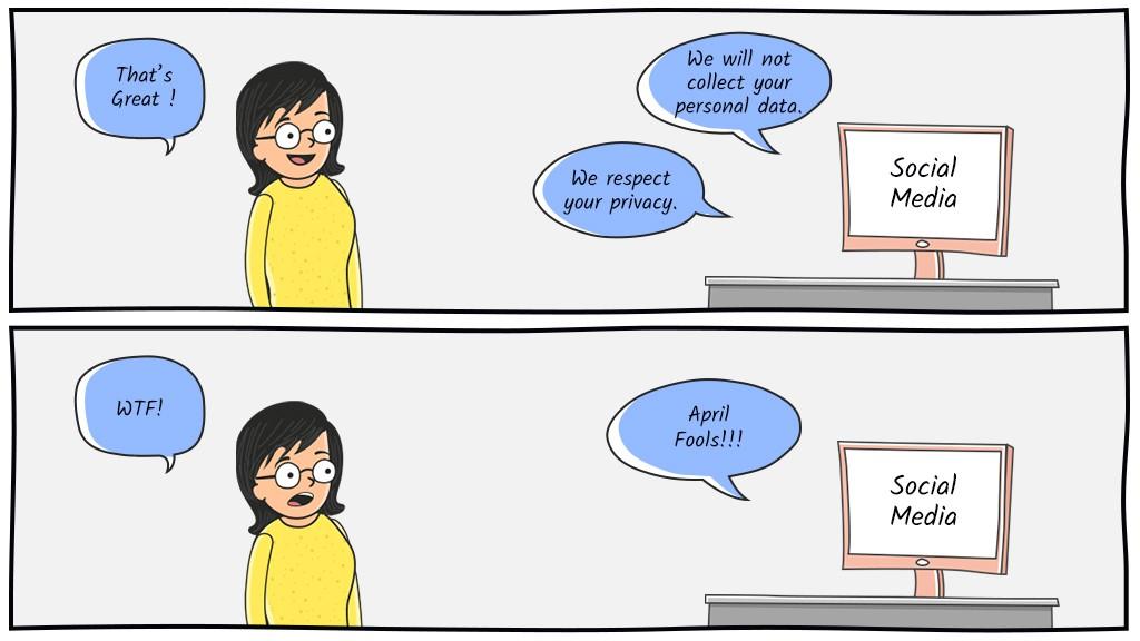 Social Media April Fool's Day-Comic Strip