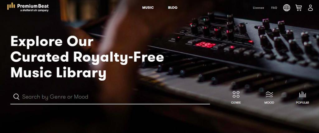 Premium Beats Homepage Shot